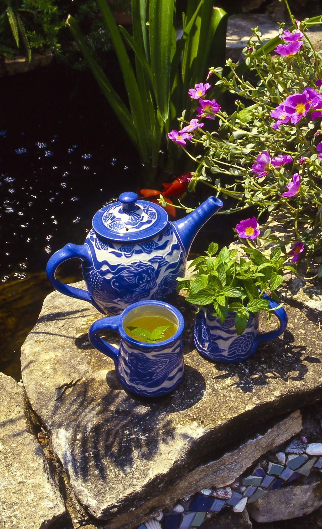 mermaid fish teapot lemon verbenapeppermint