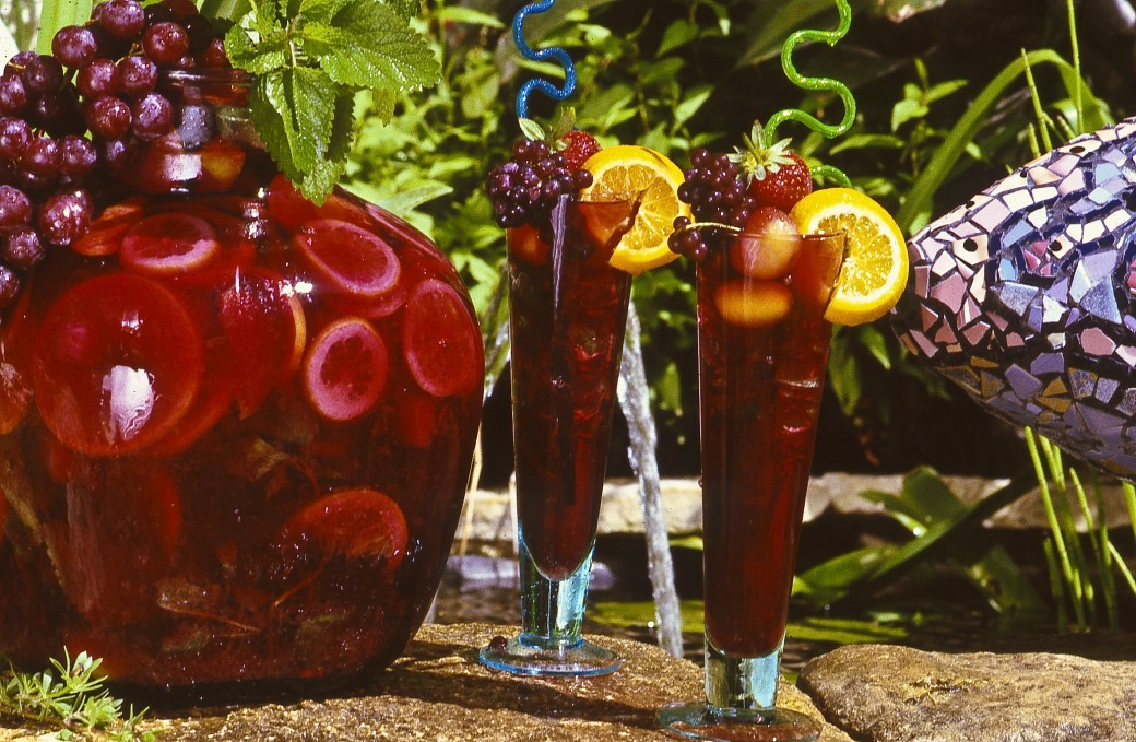 sangria fishpond refreshing summer drink