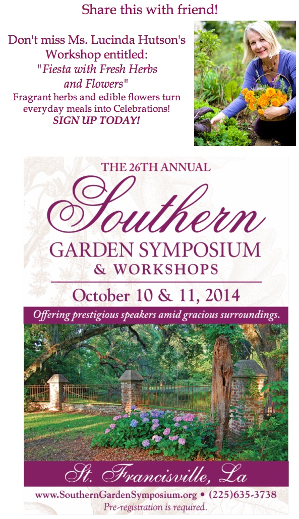 Southern Gardening Symposium Flyer Speaker Slideshow Featured