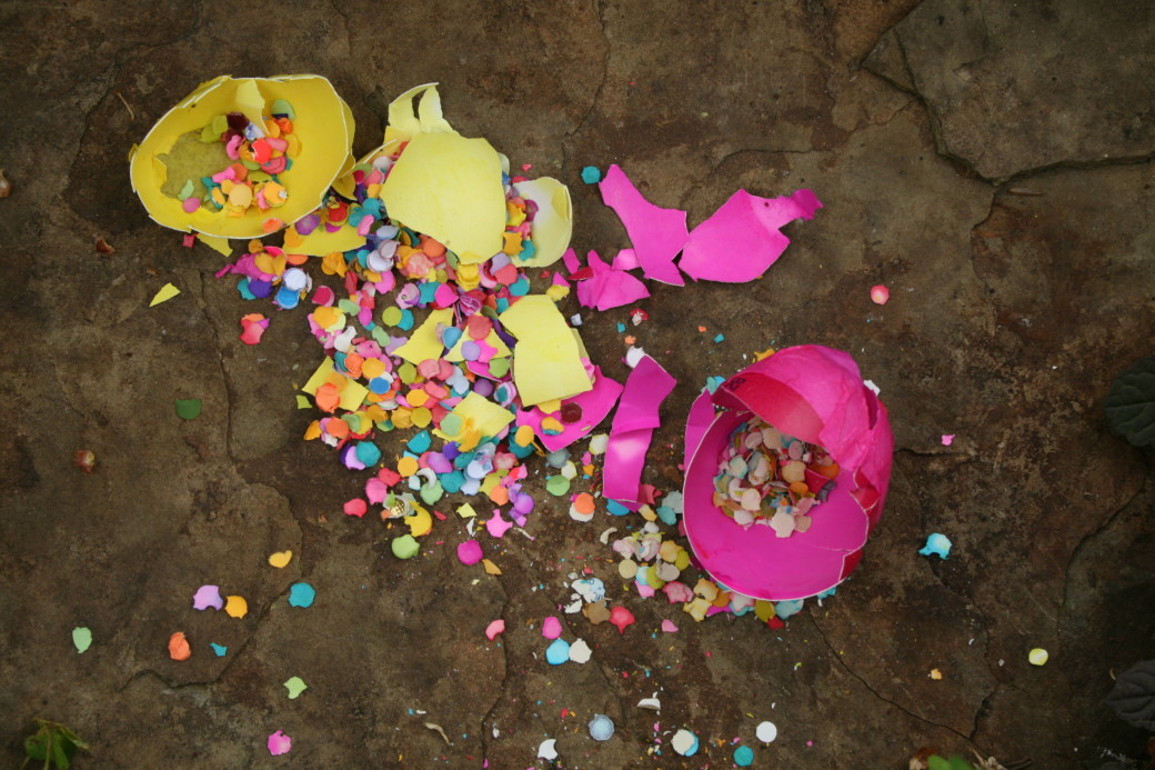 cascarones  easter broken easter eggs confetti eggs