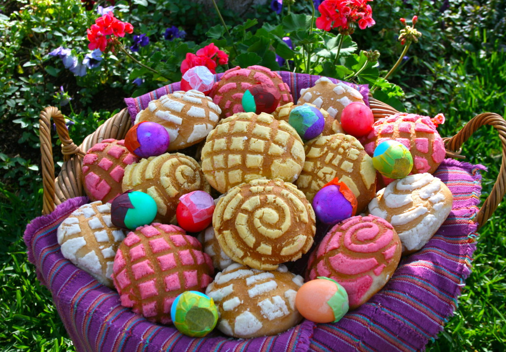 pan dulce easter eggs cascarones brunch